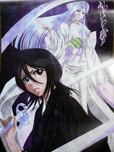 Rukia Kuchiki and her zanpakuto (sword) manifestation Sode no Shirayuki