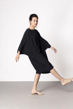 Artist Dress Black Silk Crepe