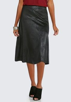 2edcac42b1bd1 Cato Fashions Crackle Faux Leather SkirtPlus  CatoFashions Faux Leather  Skirt