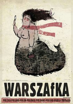 Ryszard Kaja Posters, Online Sales and Exhibition, Poster Gallery Warsaw, Poland Kunst Poster, Poster S, Polish Posters, Saul Bass, Mermaids And Mermen, Pop Art, Tarot, Vintage Travel Posters, Retro Posters