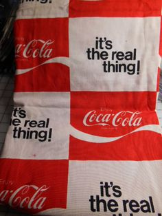 Rare Vintage Coca Cola Fabric   1970's       3 by MadkDesigns, $500.00