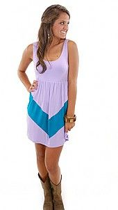 Chevron Tank Dress, Purple