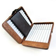 Japanese wooden cigarette case