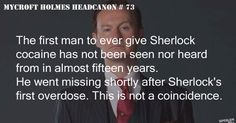 The first to ever give Sherlock cocaine has not been seen nor heard from in almost 15 years. He went missing shortly after Sherlock& first overdose. This is not a coincidence Sherlock Bbc, Sherlock Fandom, Watson Sherlock, The Science Of Deduction, Mycroft Holmes, Benedict And Martin, Mrs Hudson, Sherlolly, 221b Baker Street