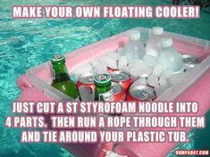make your own floating beer cooler