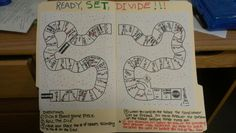 Home-made division game board for students learning division. Fun and educational ! Board Game Pieces, Board Games, Project Based Learning, Student Learning, Maths Games Ks1, School Projects, Projects To Try, Division Games, Multiplication