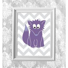 Digital Art Print. Purple Fox. DIY Printables. Instant Download. JPG... (€3,21) ❤ liked on Polyvore featuring home, home decor, wall art, purple home decor, purple home accessories, purple wall art, fox wall art and fox home decor