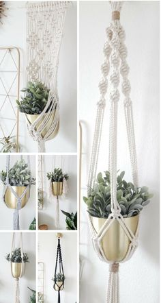 Macrame Plant Hanger from Larks and Leo. Macrame Wall Hangings also available. Introduce some boho chic decor into your home with a macrame plant hanger or a macrame wall hanging! Macrame Supplies, Macrame Projects, Bohemian Bedroom Design, Boho Dekor, Macrame Design, Macrame Patterns, Plant Decor, Plant Wall, Decoration