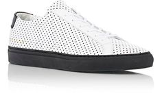 COMMON PROJECTS Leather Perforated Achilles Sneakers White/Black 10/43 NIB $475 #COMMONPROJECTS #FashionSneakers