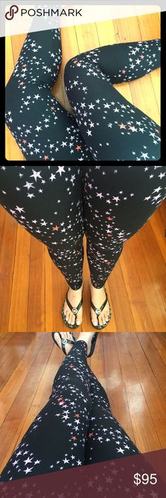 New MAJOR UNICORN PRINT! Lularoe TC Black stars  RARE trail of stars print! Perfect for Summer and the Olympics! String of stars!  Brand-new buttery soft leggings! Major UNICORN Print!! Very hard to find!! Size is TC-Tall and Curvy. Fits 10-22--brand-new with tags, never worn, smoke free home. ❌No trades ✅ ships within 24 hours of purchase LuLaRoe Pants Leggings