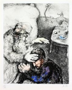 Marc Chagall, The Blessing of Jacob by Isaac   by Haggerty Museum