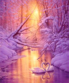 Winter Swan Fantasy ✾http://PhilosBooks.com✾