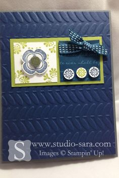 Madison Avenue stamp set and Vine Street TIEF (Sale-a-Bration 2013)  Studio Sara -- Stampin Up! Demonstrator, Sara Smeby -- {Ideas & Resources}