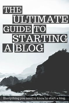 If starting a blog is something that you've always wanted to do, then check out this guide for step by step instructions!
