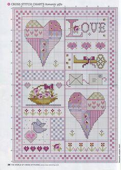 Muster Valentinsbild