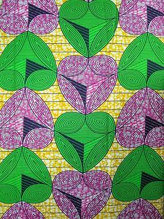African Fabric Super Wax Print 6 Yards 100 by Africanpremier, $29.99