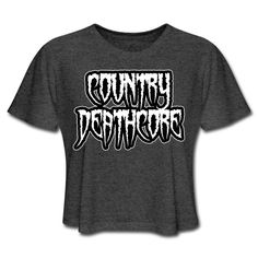SICKIE THREADS   COUNTRY DEATHCORE - Womens Cropped T-Shirt Unique Outfits, Comfortable Fashion, Crop Tops, Country, Mens Tops, T Shirt, Clothes, Supreme T Shirt, Outfit