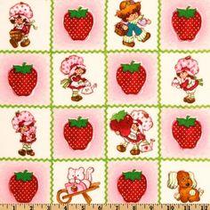Strawberry Shortcake Garden Fun Huge Berry Patch Flannel fabric by the yard - http://www.funhunter.com/strawberry-shortcake-garden-fun-huge-berry-patch-flannel-fabric-by-the-yard.html