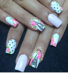 Dream Catcher and Eiffel Tower Nails - Pretty Designs Perfect Nails, Gorgeous Nails, Pretty Nails, Fun Nails, French Nails, French Manicures, Eiffel Tower Nails, Paris Nails, Cute Nail Art Designs