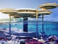 Hotel a ser construído em Dubai terá dois discos, um acima da água e outro submerso