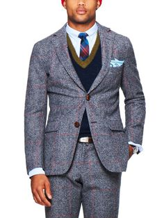 Prince of Wales Check Two-Button Blazer
