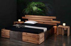 Amazon.de: Massivholzbett Brunhilde - rustikales Designerbett, Größe:200x220cm