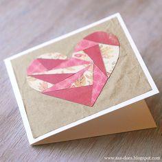 PAPER PATCHWORK VALENTINE'S DAY CARD  via http://sas-does.blogspot.com