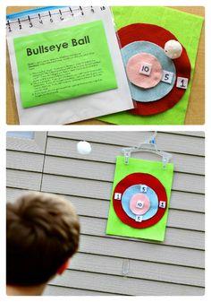 DIY Bullseye Ball Math Game for Kids