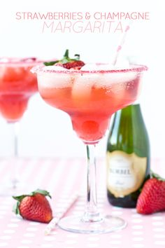 Strawberries & Champagne Margarita Recipe