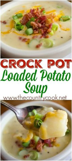 Crock Pot Loaded Baked Potato Soup Recipe