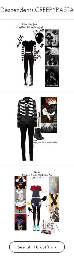 """Descendents:CREEPYPASTA"" by pastelgothprincess27 ❤ liked on Polyvore featuring DKNY, jared, Gucci, James Perse, River Island, Maison Margiela, Alexander McQueen, Converse, Yves Saint Laurent and Rip Curl"