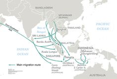 Migration Routes of Southwestern Asia