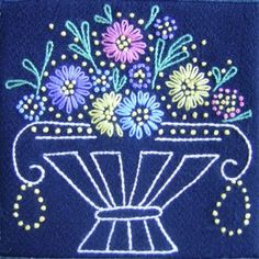 french wool embroidery quilts - Google Search