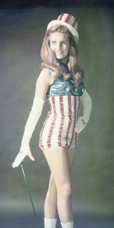 Kelly Foxton won many twirling titles including National Baton Twirling Champion, Miss Majorette of the South, Miss Salute to America