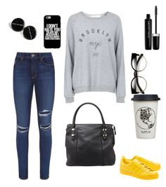 """Untitled #561"" by klaratob on Polyvore featuring Urban Originals, adidas Originals, Paige Denim, Topshop, Marc Jacobs and Natural Life"