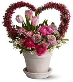 valentines day floral arrangements | Valentine Floral Arrangements