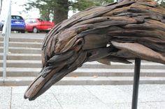 Sculptures, Lion Sculpture, Driftwood Sculpture, Drift Wood, Wood Pieces, Dolphins, Wood Art, Underwater, Craft Projects