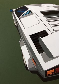 Hand cut vinyl car art. Lamborghini Countach.