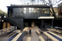 A Beer Garden Inspired by The Royal Tenenbaums? And Annie Hall?: Remodelista