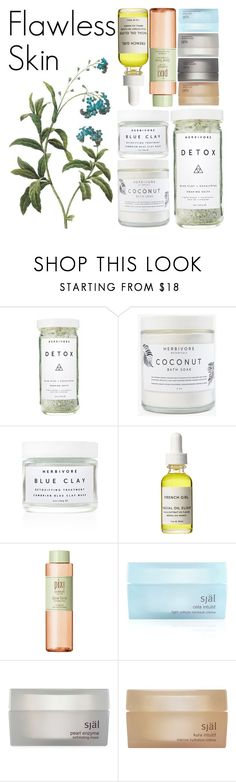 """#101"" by theevilraccoon ❤ liked on Polyvore featuring beauty, Herbivore, French Girl, Pixi, själ, skincare, beautyproducts, flawlessskin, arganoil and herbivore"