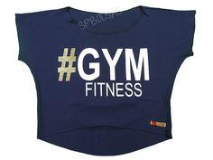 Blusas Femininas | Blusa Cropped Costas Rasgadas # Gym Fitness Azul Marinho  Acesse: http://www.spbolsas.com.br/atacado/ #Regatas #Femininas #Atacado