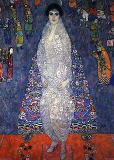 Portrait Of Baroness Elisabeth Bacchofen Echt,  Gustav Klimt