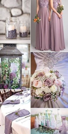 Lavender with Green - 12 Perfect Combinations for Color Schemes for Fall Weddings - EverAfterGuide