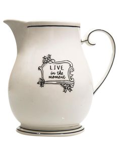 """Home Essentials """"Live in the Moment"""" 4-qt. Pitcher"""