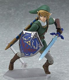 Brand: Good SmileFeatures: A Good Smile import Includes three face plates for multiple expressions Smooth yet poseable joints Includes Master Sword and Hylian Shield Articulated figma stand included Binding: ToyRelease Date: 30-06-2017Details: From Good Smile. A special edition of figma Link! This Twilight Princess version features various additional items! Link comes with three face plates including a strong-willed and confident expression, a powerful shouting expression and an expression with Link Twilight Princess, Princess Zelda, The Legend Of Zelda, Master Sword, Anime Figures, Action Figures, Poses Dynamiques, Skyward Sword Link, Zelda Anime