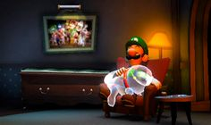 "Polterpup with Luigi at the end of ""Luigi's Mansion: Dark Moon"" Luigi Mansion, Luigi's Mansion 3, Super Mario Brothers, Super Mario Bros, Super Mario Nintendo, Nintendo Games, Luigi's Mansion Dark Moon, Green Warriors, Prince"