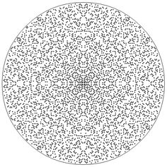 A plot of the complex plane showing Gaussian primes as filled squares. http://www.jasondavies.com/