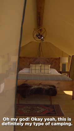 You can now go glamping in the middle of New York City! Go Glamping, Camping, Types Of Fruit, Natural Scenery, Dream Vacations, Places To See, Island, Photo And Video, Vacation Ideas
