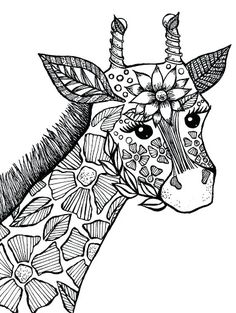 animals colouring pages adults - Google Search Zoo Animal Coloring Pages, Dog Coloring Page, Flower Coloring Pages, Cartoon Coloring Pages, Disney Coloring Pages, Mandala Coloring Pages, Coloring Books, Coloring Sheets, Kids Printable Coloring Pages