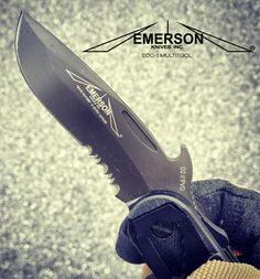 The Mini Commander blade on the from Emerson Emerson Knives, Combat Knives, Handmade Knives, Cold Steel, Custom Knives, Knife Making, Edc, Blade, Guns